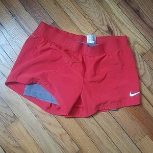 like new Nike Dri-Fit Pink and Grey Running Shorts